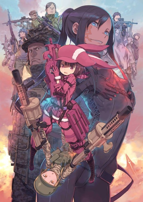 Imagen promocional de Sword Art Online Alternative Gun Gale Online
