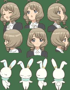 Minori Suzuki com Akiho, una nueva amiga de Sakura