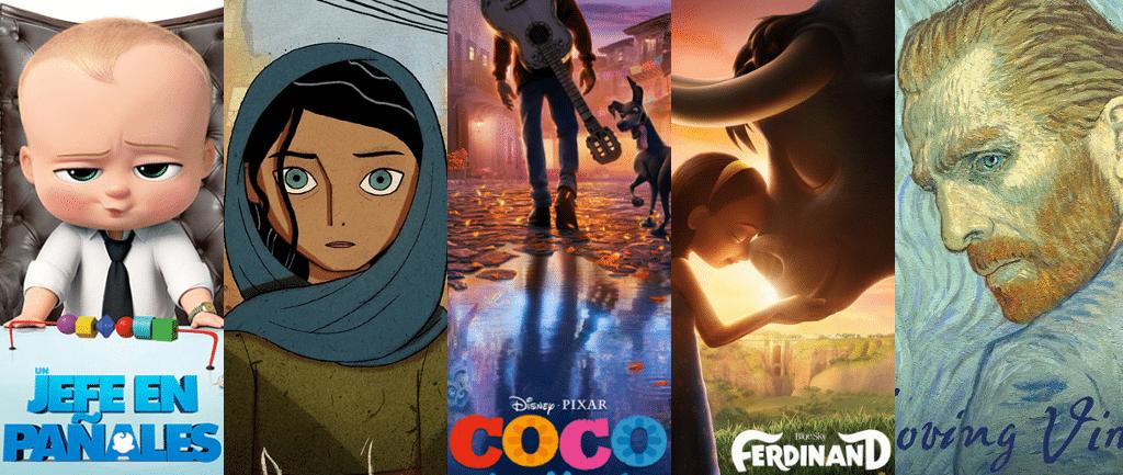 Los nominados a Mejor Película Animada 2018