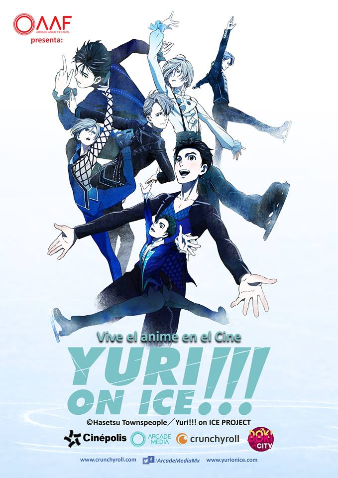 Imagen promocional de Yuri!!! on Ice en México