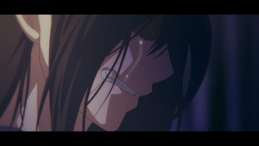 Satowa llora luego de escuchar las palabras de su madre