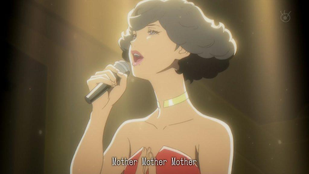 Angela cantando a su madre