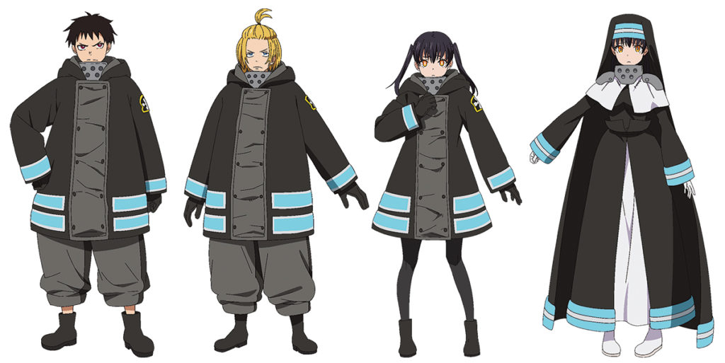 Enen no Shouboutai (Fire Force) (S2) - Diseños