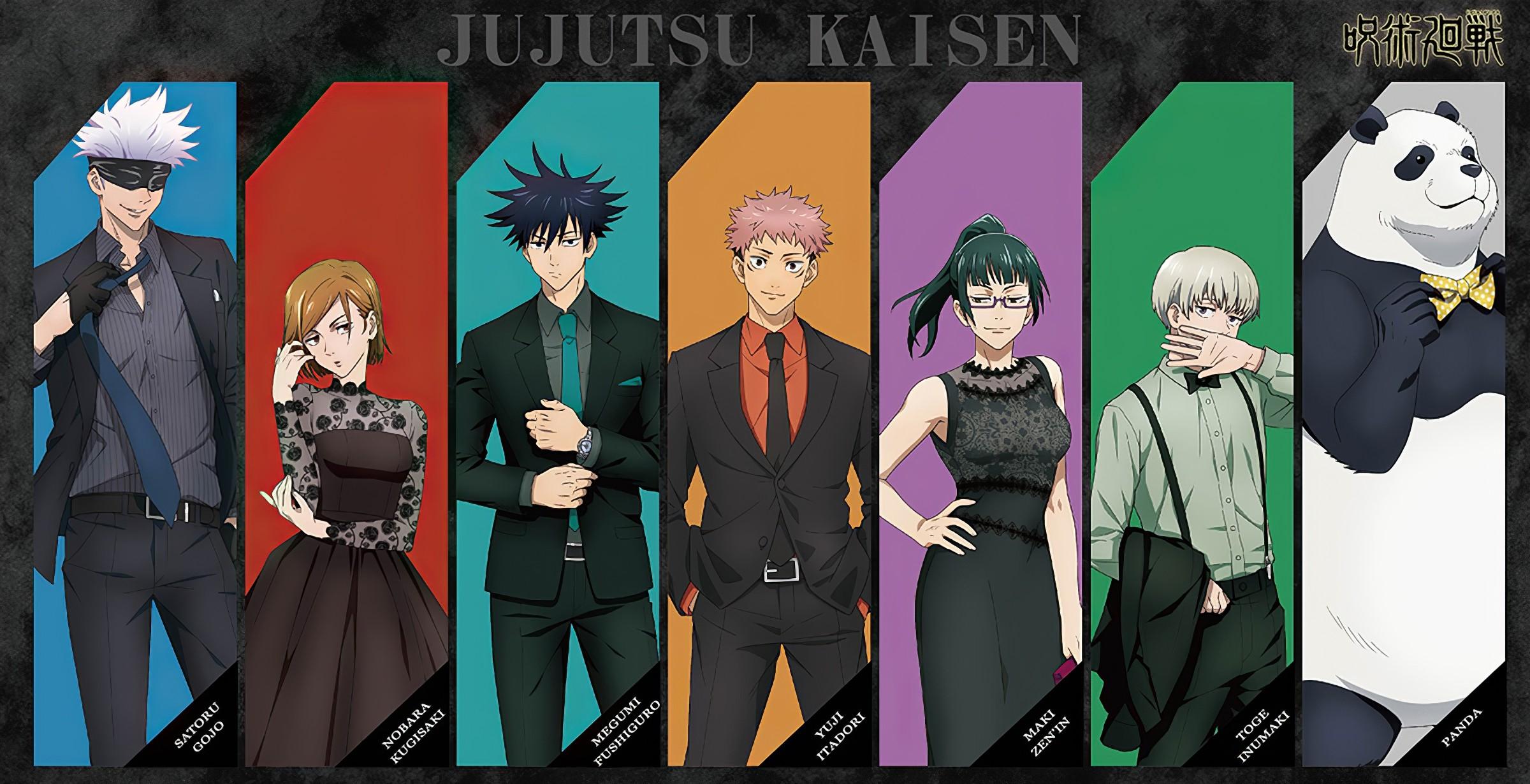 Jujutsu Kaisen: Los personajes se visten de gala para una colaboración -  Mundo Shu Ouma